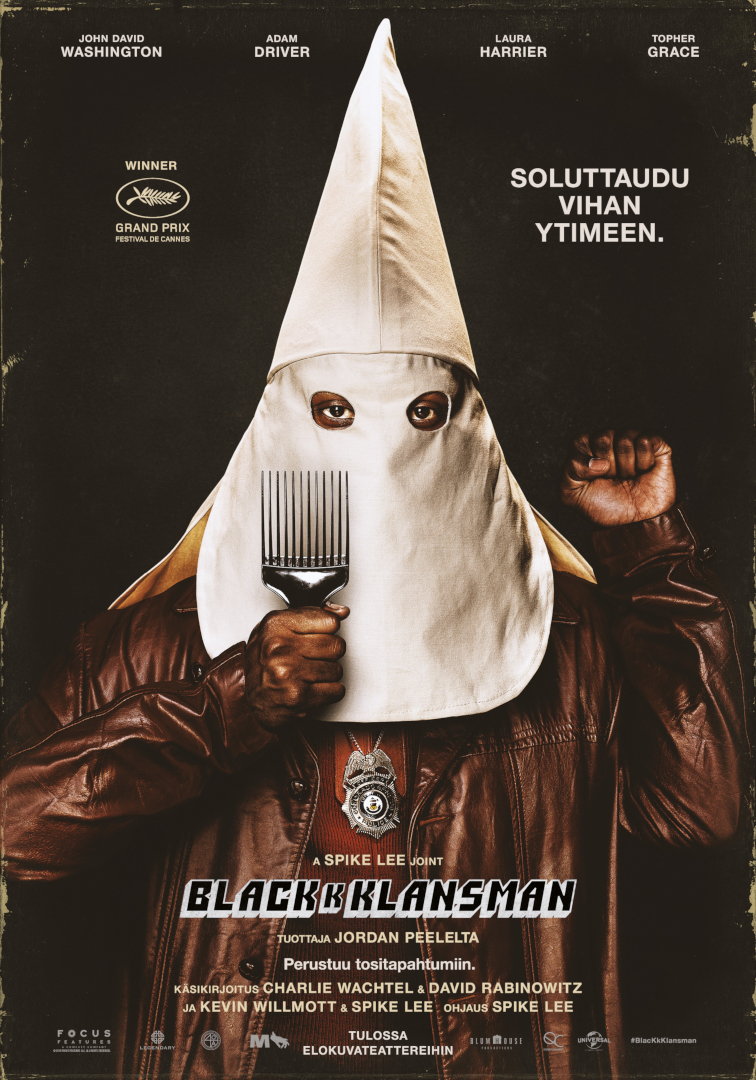 blacKkKlansman_juliste